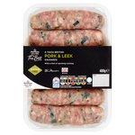 Morrisons The Best Thick Pork & Leek Sausages