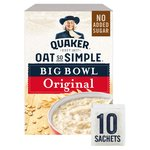 Quaker Oats Oat So Simple Original Big Bowl 10 Sachets
