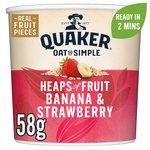 Quaker Oats Heaps of Fruit Banana & Strawberry Perfect Creamy Porridge
