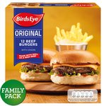 Birds Eye 12 Beef Burgers With Onions 680g