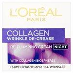 L'Oréal Collagen Wrinkle De-crease Night Cream