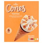 Morrisons Toffee Ice Cream Cones