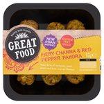Fiery Channa & Red Pepper Pakora Bite Snacks