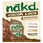 Nakd Cocoa Loco Bars 4 Pack