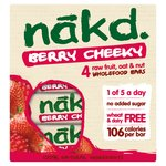 Nakd Berry Cheeky Bars 4 Pack