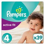 Pampers Premium Protection Active Fit Nappies Size 4 Maxi 39 per pack
