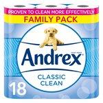 Andrex Classic Clean Toilet Tissue 18 Rolls