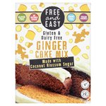 Free & Easy Gluten And Dairy Free Ginger Cake Mix Coconut Blossom Sugar