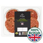 Morrisons The Best 4 Jalapeno Beef Burgers
